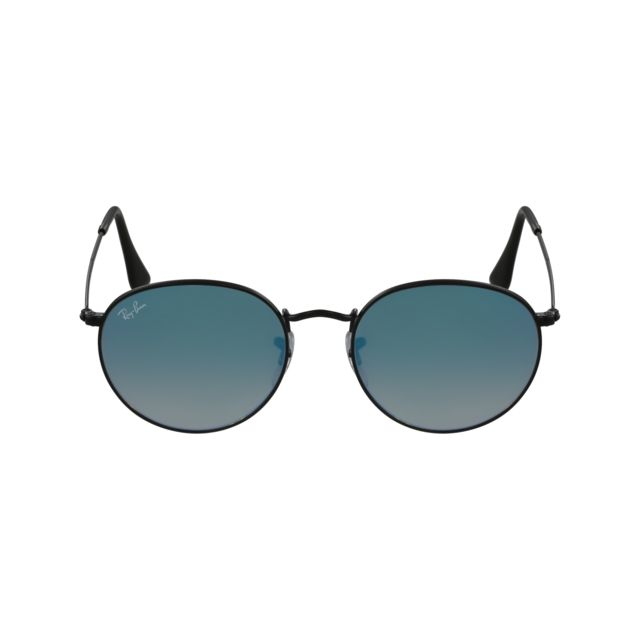 fe1874c3fef80 Ray-Ban - Ray Ban - Round Metal Rb3447 002 4O Noir - Lunettes de ...