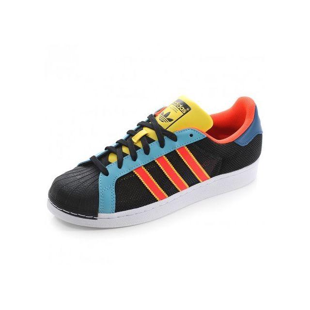 timeless design db180 efe82 Adidas originals - Chaussures Superstar Noir Bleu Homme Garçon Adidas