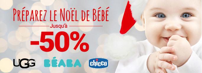 Préparez le Noël de Bébé - jusqu'à -50%