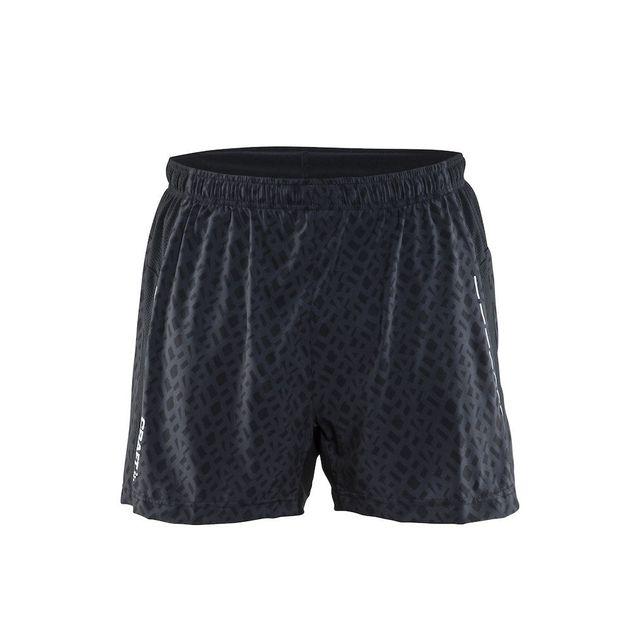 Craft - Run Breakaway Short 2 En 1 Noir Imprime Short Running homme - pas  cher Achat   Vente Corsaires 78331ec319c