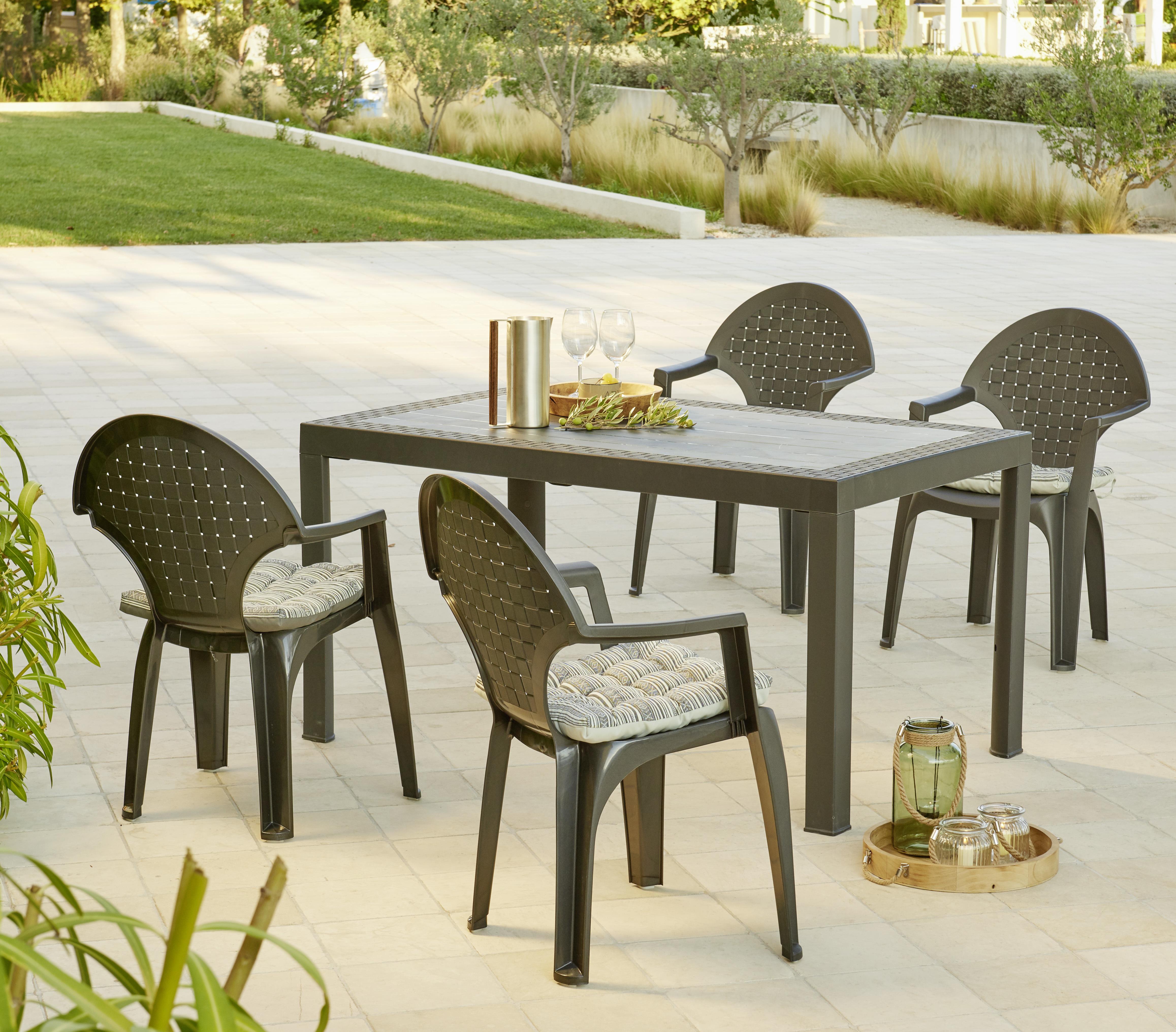 table table de jardin resistant aux intemperies. Black Bedroom Furniture Sets. Home Design Ideas