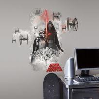 Mon Beau Tapis - Stickers Star Wars Ep Vii Villains Burs Géant Roommates Repositionnables 42x72cm