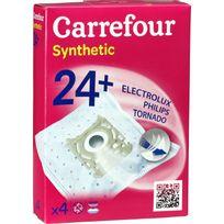 CARREFOUR - Sacs aspirateur Synthetic 24+ - EP10068