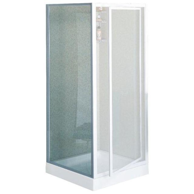 Novellini - Paroi fixe verre trempé granité larg. 70 cm dimension 68 à 72 cm Riviera F - Rivifc70-6A