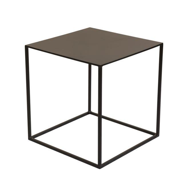 Rendez Vous Deco Table basse Cola en métal noir