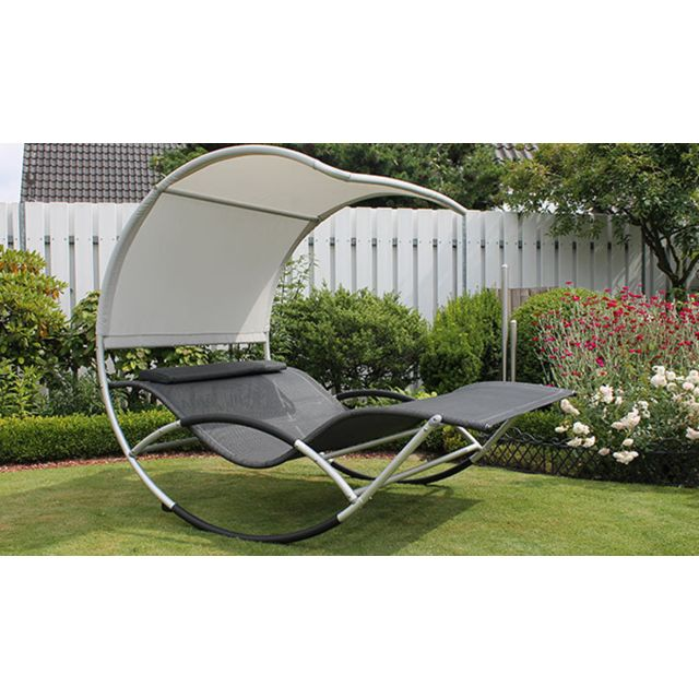 House And Garden Bain De Soleil 2 Places Couvert Gris Jumbo