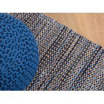 Beliani - Tapis rectangulaire en coton - tapis bleu marine - 160x230 cm - Talas