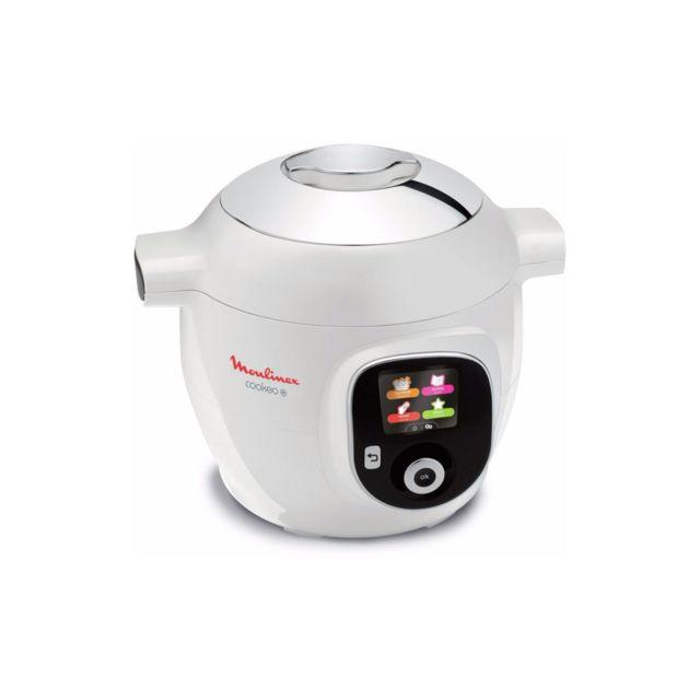 MOULINEX Multicuiseur Cookéo+ 150 recettes - CE851100 - Blanc