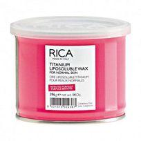 Rica - Cire à épiler liposoluble rose titanium pot 400ml