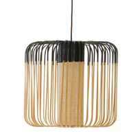 Forestier - Bamboo - Suspension d'extérieur Bambou/Noir H40cm - Luminaire d'extérieur designé par Arik Levy