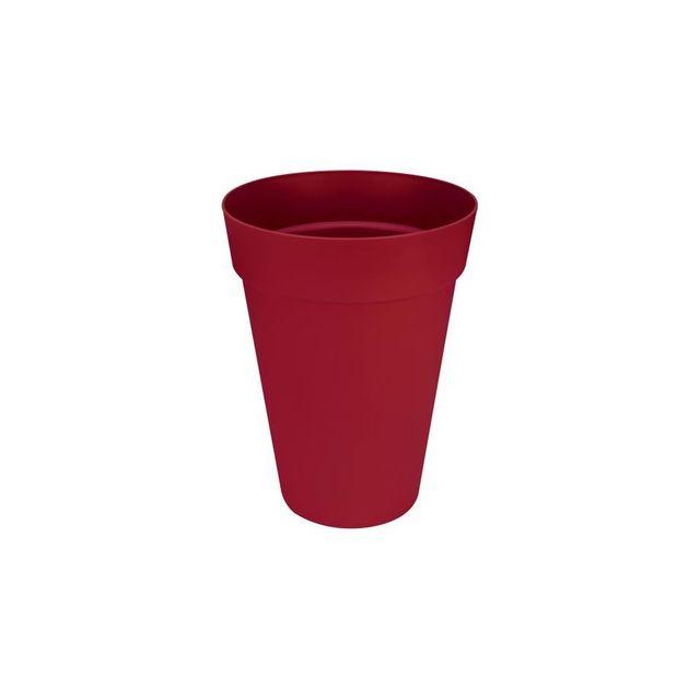 elho soucoupe ronde pot de fleur 21 cm peche rouge pas cher achat vente poterie bac. Black Bedroom Furniture Sets. Home Design Ideas