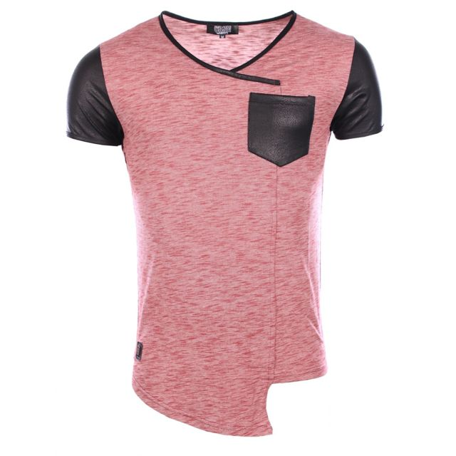 420faa8bbfd0f Carisma - Homme - T-shirt slim fit stretch tendance col V 4230 rouge - pas  cher Achat   Vente Tee shirt homme - RueDuCommerce
