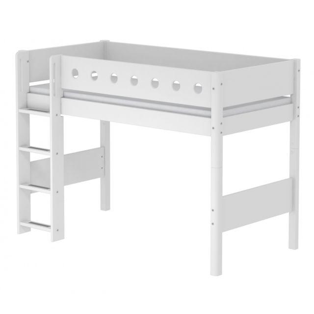 Flexa Lit mezzanine évolutif White 90x200