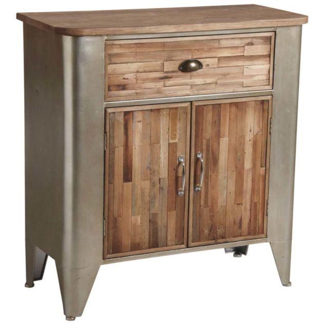 AUBRY GASPARD Commode bois et métal
