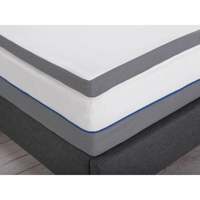 BELIANI Sur-matelas à mémoire de forme 140 x 200 cm COMFY - blanc