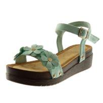 640e30d8a59 Chaussures femme talon compense turquoise - catalogue 2019 ...