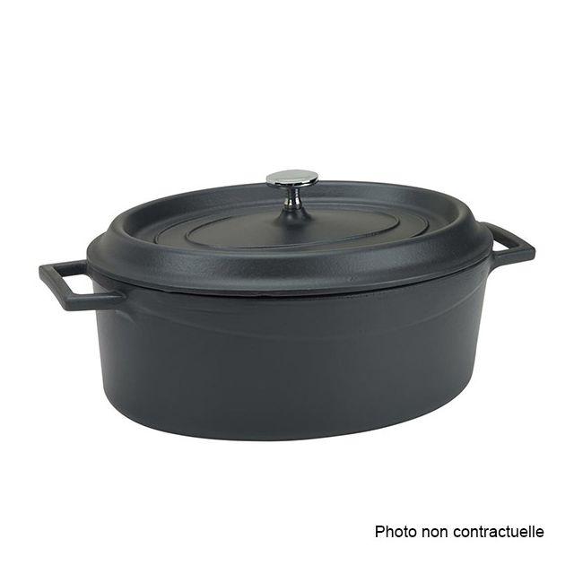 Beka 13391204 Cook On Cocotte ronde couvercle en fonte daluminium noire 20 cm