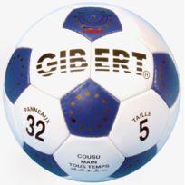Gibert - Ballon foot cuir 32 panneaux taille 5