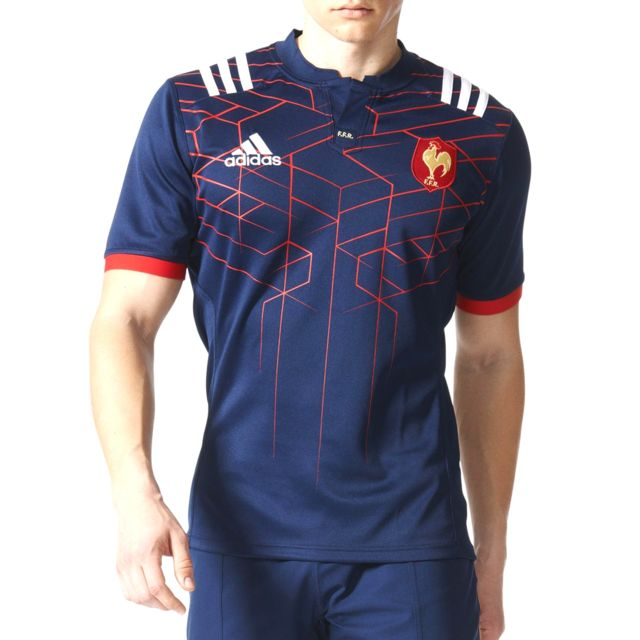 840728c2bd9 Adidas performance - Maillot de rugby France adidas Performance Maillot  équipe de France de rugby domicile