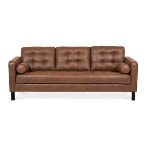 alin a elvis canap 3 places fixe au rev tement tissu choco vieilli achat vente canap s. Black Bedroom Furniture Sets. Home Design Ideas