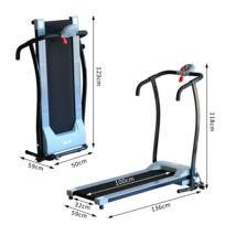 HOMCOM - Tapis roulant électrique de marche Fitness 450 W gris noir 85