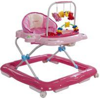 Sun Baby - Trotteur interactif jouets sons lumières bébé 6-12 mois Petit Chat   Rose