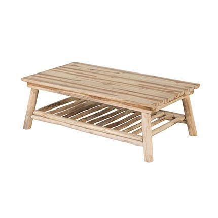 Table basse 110x60x37cm en teck naturel - Alpaga