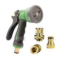 Sanifri - Pistolet d'arrosage Pour tuyau 3/4 6 modes d'arrosage Set de raccordement en laiton