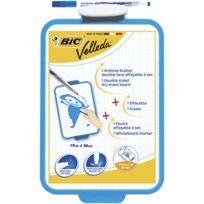 Bic - Ardoise Velleda bleue - Double face - Effaçable à sec