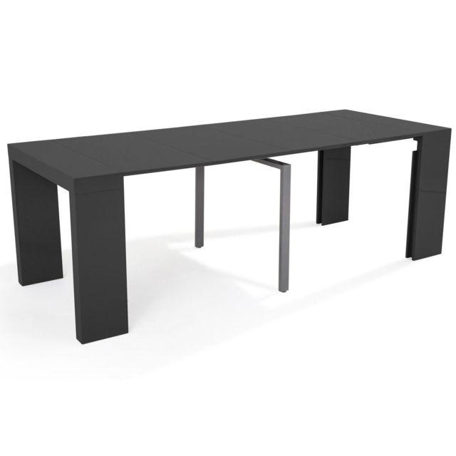 HABITAT ET JARDIN Table console extensible Elsa - 300/50 x 94 x 75 cm - Gris