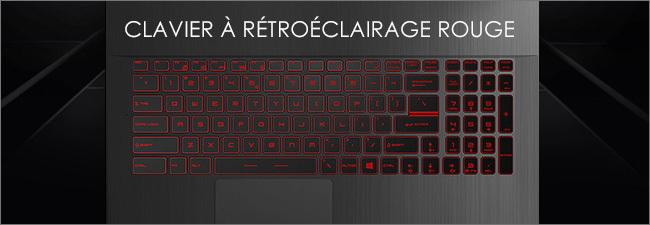 MSI GF75 - Clavier gaming rétroéclairé