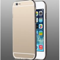 Usams - Protection iPhone 6 bumper pour iPhone 6 coloris Noir et dos transparent