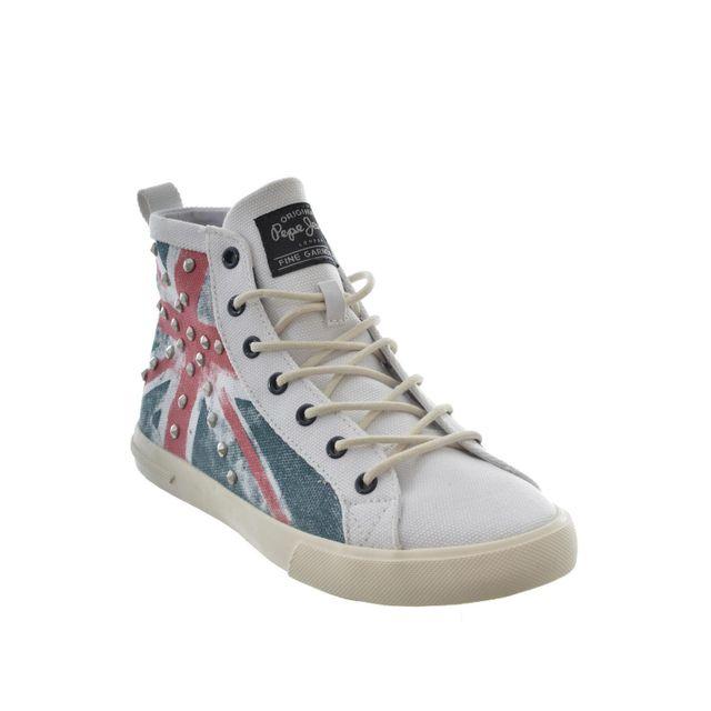 Pepe Jeans baskets mode barr296 - barry blanc