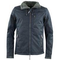 1fa14ae7fc5d SUPERDRY - Winter Sherpa Hood Windtrekker Blouson Homme - Taille S - BLEU