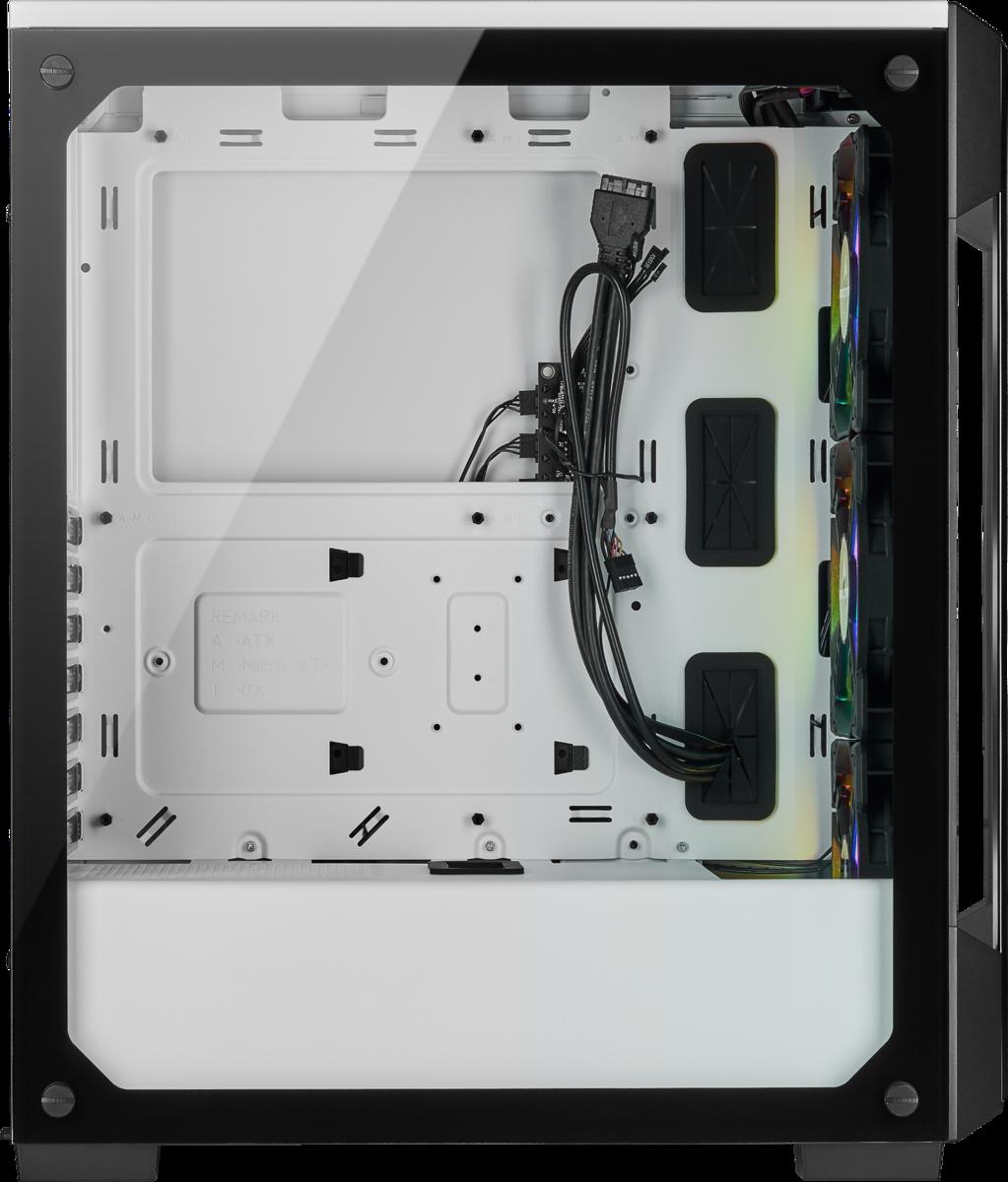 iCUE 220T - ATX - RGB - Blanc - Avec fenêtre