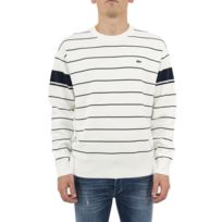 Achat Rue Pas Cher Commerce Du Lacoste Blanc Pull nzFgBB