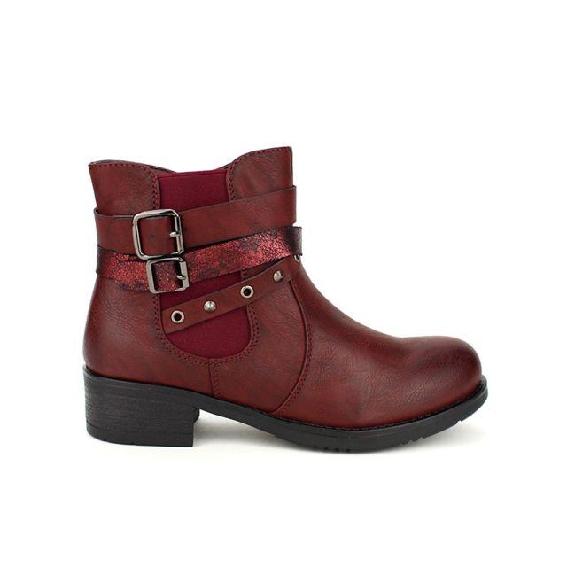 2787463eb366e7 Cendriyon - Bottines Bordeaux Sixth Sens - pas cher Achat / Vente Boots  femme - RueDuCommerce