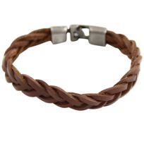 Metron Homme - Bracelet Homme Tressé avec synthétique Chocolat M H 409