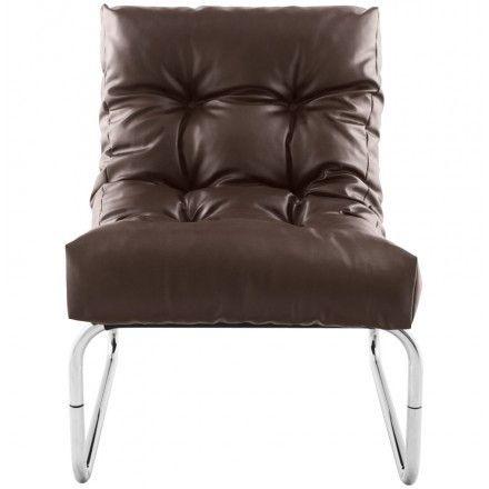 TECHNEB Fauteuil lounge ISERE en polyuréthane marron
