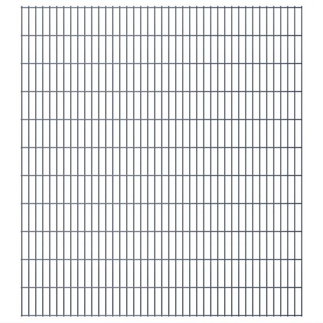 Vidaxl 2D Panneaux de clôture jardin 2008 x 2230 mm 46 m Gris