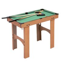 5e0cc7d6ca0d8 HOMCOM - Mini table de billard sur pied avec accessoires bois MDF velours  77 x 40