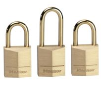 Master Lock - lot de 3 mini cadenas 15mm + 3 clés - 3115eurd