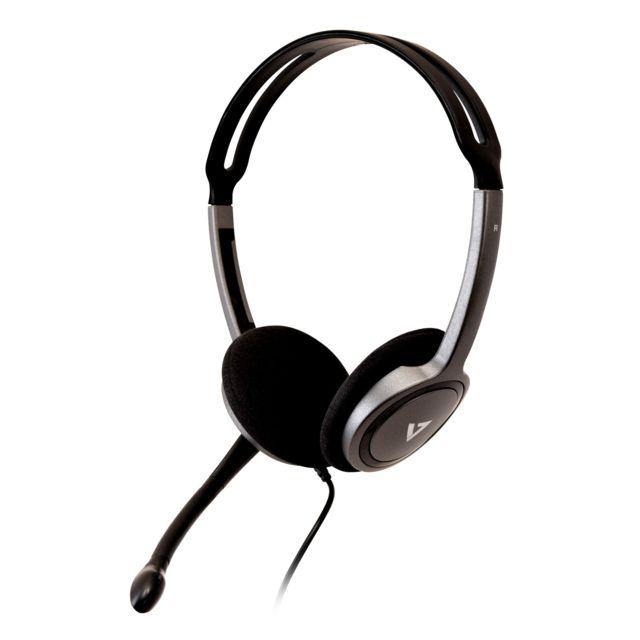 asque audio v7 v7 casque audio noir stereo