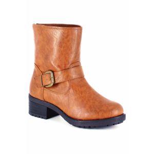 go tendance bottines motard gros talon et strass caramel 41 pas cher achat vente boots. Black Bedroom Furniture Sets. Home Design Ideas