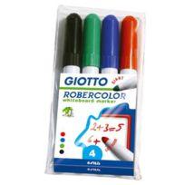 Robercolor - Etui 4 marqueurs tableau blanc pointe ogive 7mm assortis