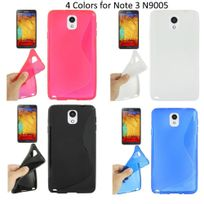 Bluetrade - 4 Coque Tpu type S pour Samsung Note 3 n9005 -noir-blanc-rose-bleu