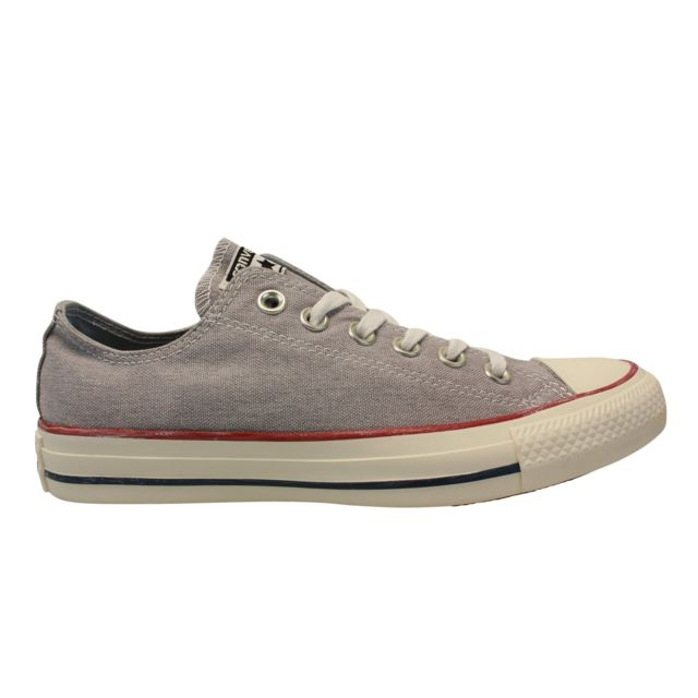 5560ab0ce2fa0 Converse - Chuck Taylor All Star Ox Gris - 36 1 2 - pas cher Achat   Vente  Baskets femme - RueDuCommerce