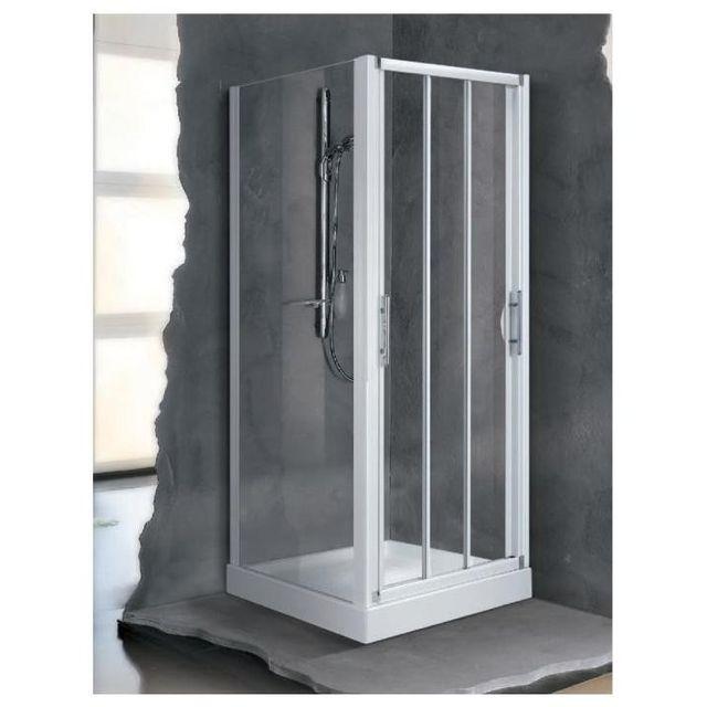 Novellini - Porte Coulissante 3 Panneaux Brosse Lunesp96-3D
