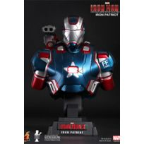 Hot Toys - Figurine - Iron Man 3 buste 1/4 Iron Patriot 23 cm