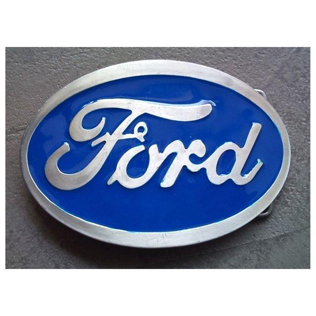 Universel Boucle de ceinture ford logo bleu ovale homme femme